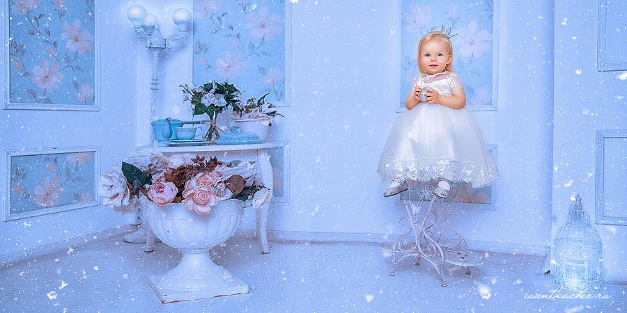 семейная детская новогодняя фото сессия в студии